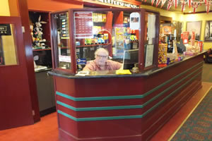 Purchasing tickets is part of the Kinema Experience