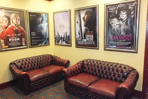 Relax before a film in the Kinema foyer